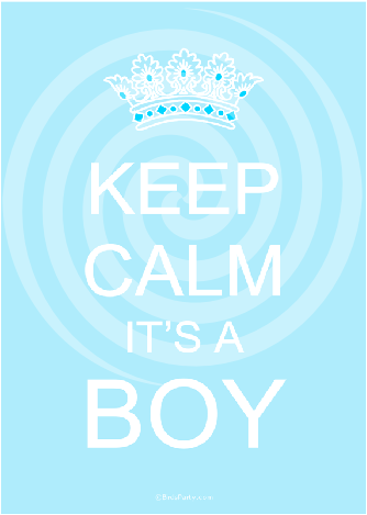 Keep Calm Baby Shower Printable Signs Boy Blue