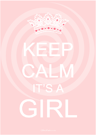Keep Calm Pink or Blue Baby Shower Party Printable Signs | BirdsParty.com