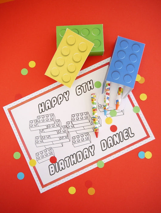 graphic about Lego Party Printable called Designing Bricks Birthday Celebration Printables Materials Decorations