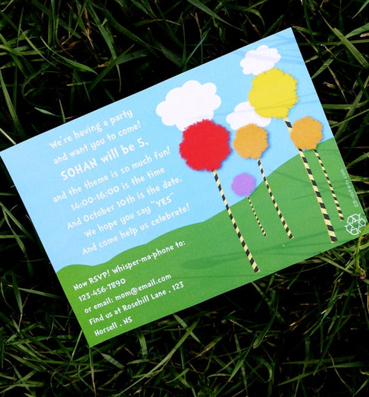 Recycling Birthday Party Printable Invitations | BirdsParty.com
