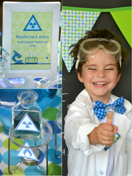 Mad scientist birthday party printables supplies shop