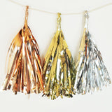 Metallic Mini Tassels (set of 18) | BirdsParty.com