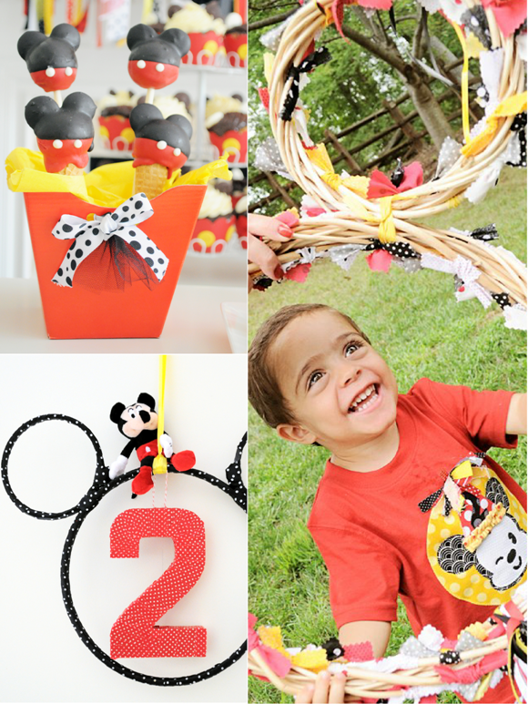 Cartoon Mouse Birthday Party Printables Supplies