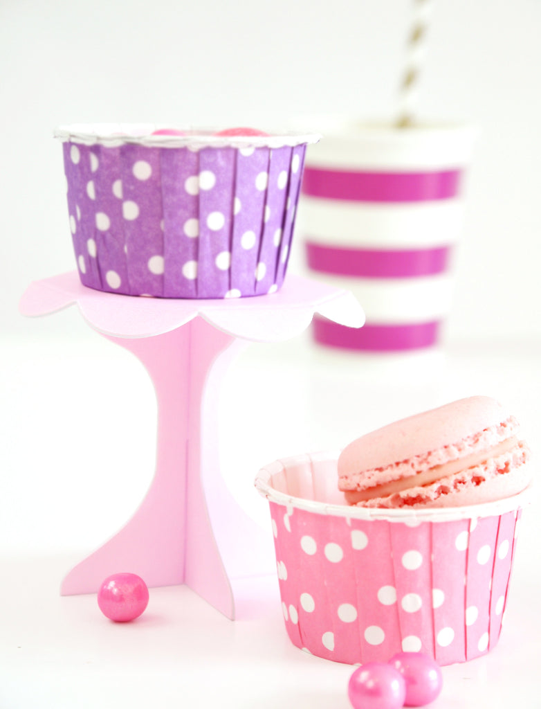 Mini Cupcake Pedestal Stands In Various Colors
