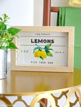 Farmhouse Lemon Printable Signs Kit