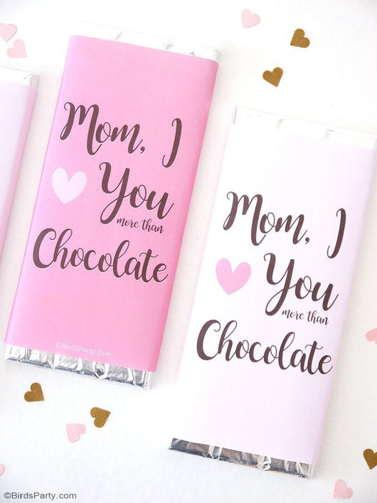 Free Printable Mother's Day Candy Bar Wrapper | BirdsParty.com