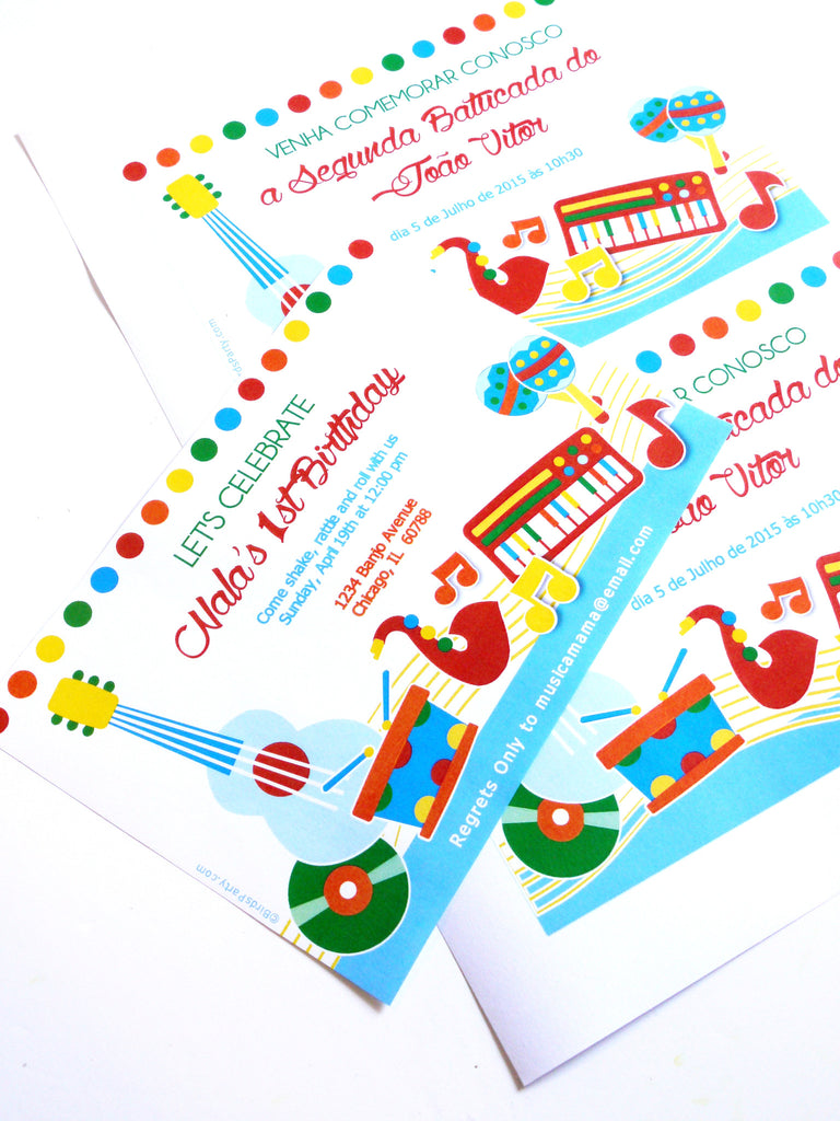 Music Birthday Jam Party Printables Invittaions ...