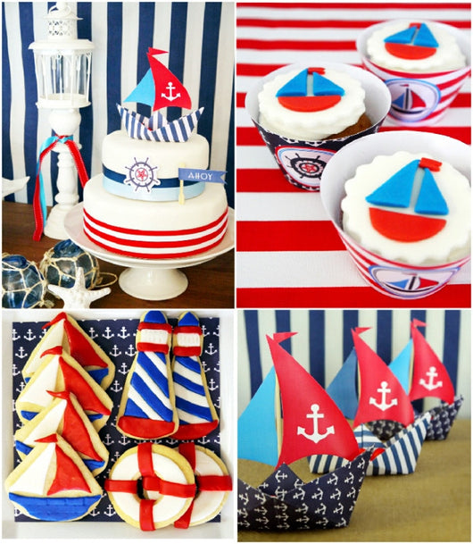 Nautical Birthday Party Printables Supplies Decorations