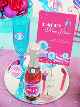 Glam Pink New Year Party Printables Supplies & Decorations Kit with Invitations | BirdsParty.com