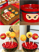 Ninja Japanese Birthday Party Printables Supplies & Decorations | BirdsParty.com