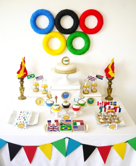 Olympics Party Printables Supplies DIY Decorations BirdsPartycom