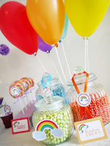 Rainbow Birthday Party Printables Supplies & Decorations | BirdsParty.com