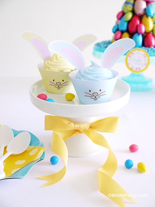Easter Bunny Pastel Colors printables party decorations supplies shop