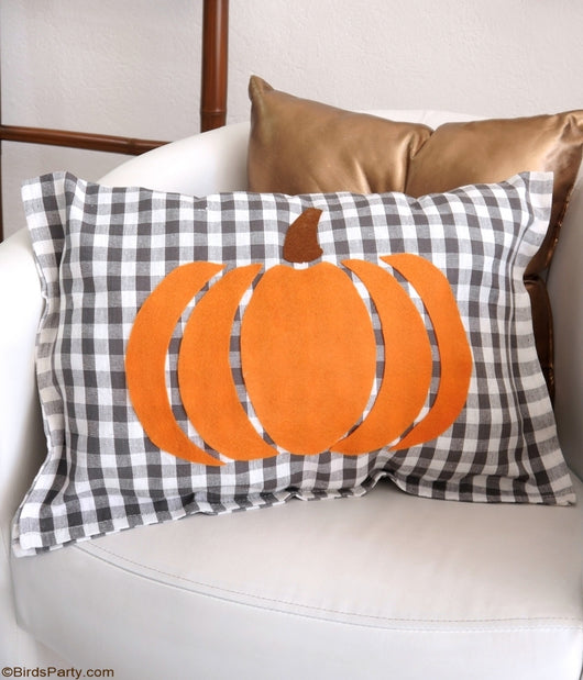 Free Printable Pumpkin Pillow Template | BirdsParty.com
