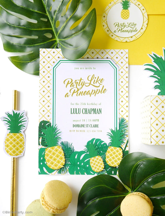 Shop Pineapple Birthday Party Printables Supplies & Decorations
