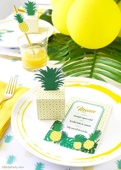 Pineapple Birthday Party Printables Supplies & Decorations | BirsdParty.com