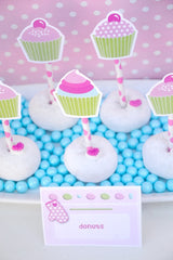 Cupcake Baking Birthday Party Printables Supplies & Decorations | BirdsParty.com