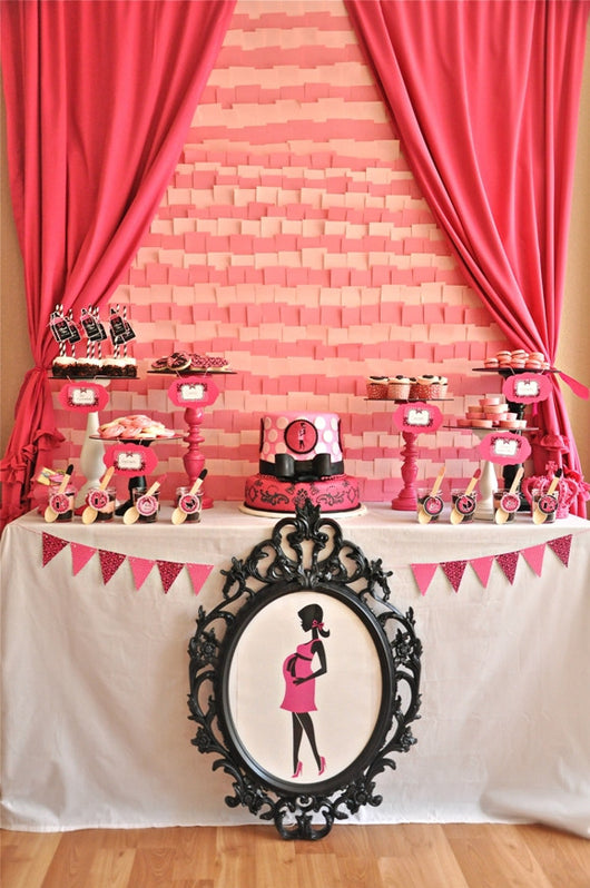 Glam Baby Shower Party Printables Supplies Birdsparty
