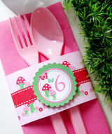 Pixie Fairy Pink Birthday Party Printables Supplies & Decorations | BirdsParty.com