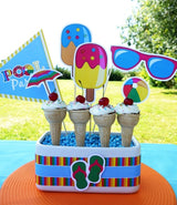 Pool Birthday Party Printables Supplies & Decorations | BirdsParty.com