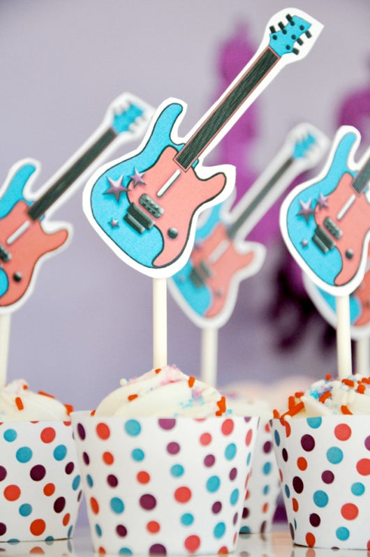 Pop Star birthday party printables supplies shop