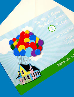 Balloons Birthday Party Printable Invitations | BirdsParty.com