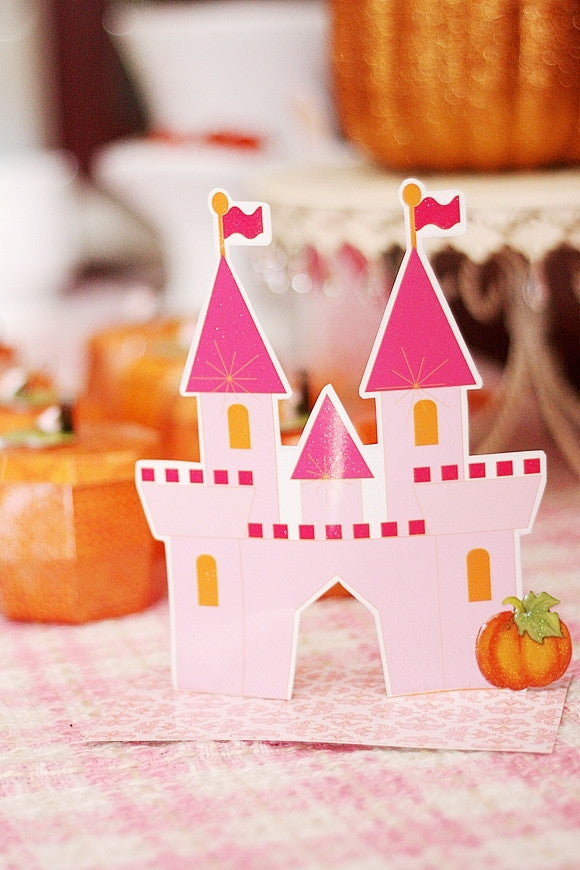 Pumpkin Princess Birthday Party Printables Supplies