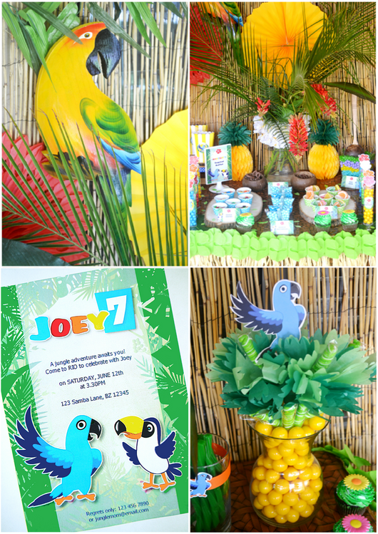 Rio Birthday Party Printables Supplies & Decorations | BirdsParty.com