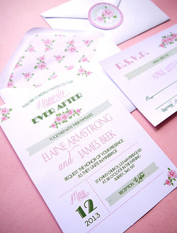 Rose Garden Party Printable Wedding Invitations | BirdsParty.com