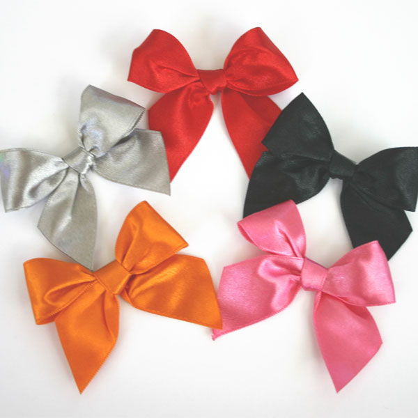 satin bows for party favors gifts in various colors. Black Bedroom Furniture Sets. Home Design Ideas