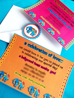 Bollywood Bling Birthday Party Printable Invitations | BirdsParty.com