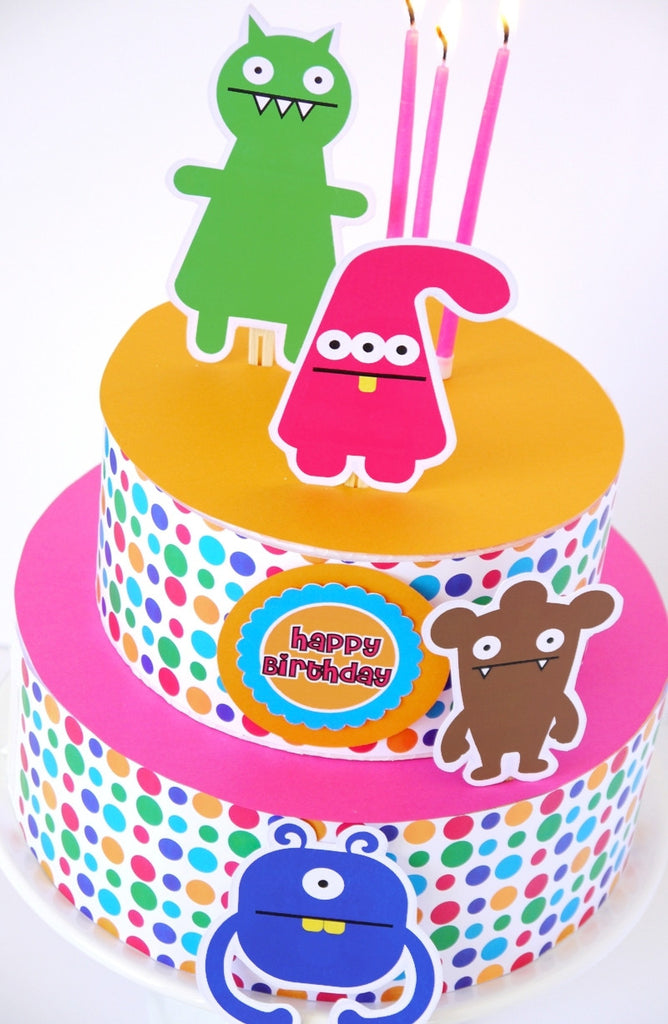 Little Monsters Birthday Party Printables Supplies