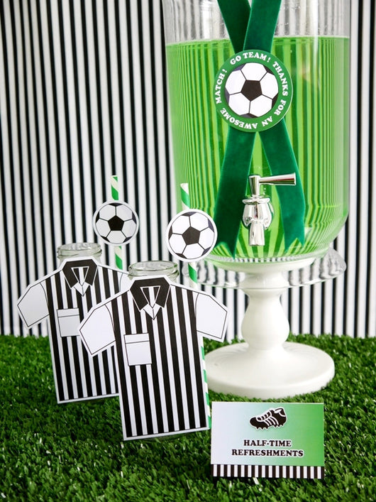 Soccer Football Birthday Party Printables Supplies