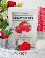 Farmhouse Strawberry Printable Signs Kit | BirdsParty.com