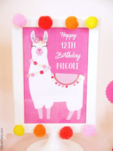 Llama Fiesta Birthday Party Printables Supplies | BirdsParty.com