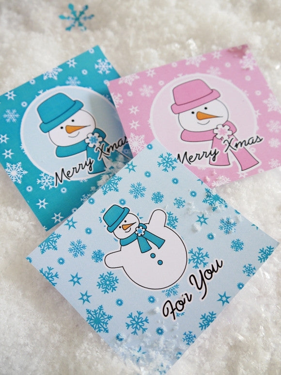 Snowman Holiday party printables pink teal supplies shop