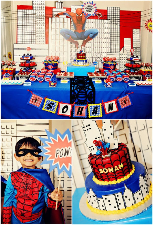 Spider hero birthday party printables supplies shop