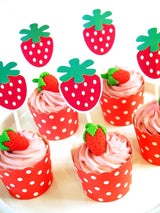 Strawberry Birthday Party Printables Supplies & Decorations | BirdsParty.com