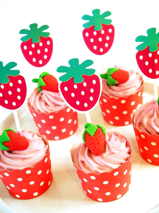 Strawberry Sortcake Inspired Birthday Party Printables Supplies