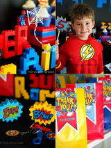 Superhero Birthday Party Printables Supplies & Decorations | BirdsParty.com