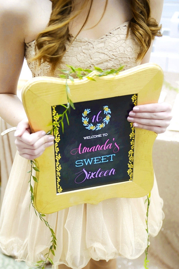 sweet sixteen birthday party printables supplies