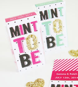Mint To Be Wedding Favor Labels Party Printables - Various Colors | BirdsParty.com
