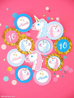 Unicorn Birthday Party Printables Supplies & Decorations | BirdsParty.com