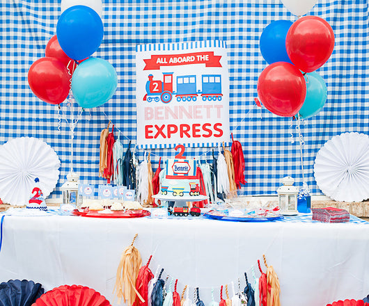 Train Birthday Party Printables Supplies & Decorations | BirdsParty.com