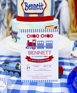 Train Birthday Party Printable Invitations | BirdsParty.com