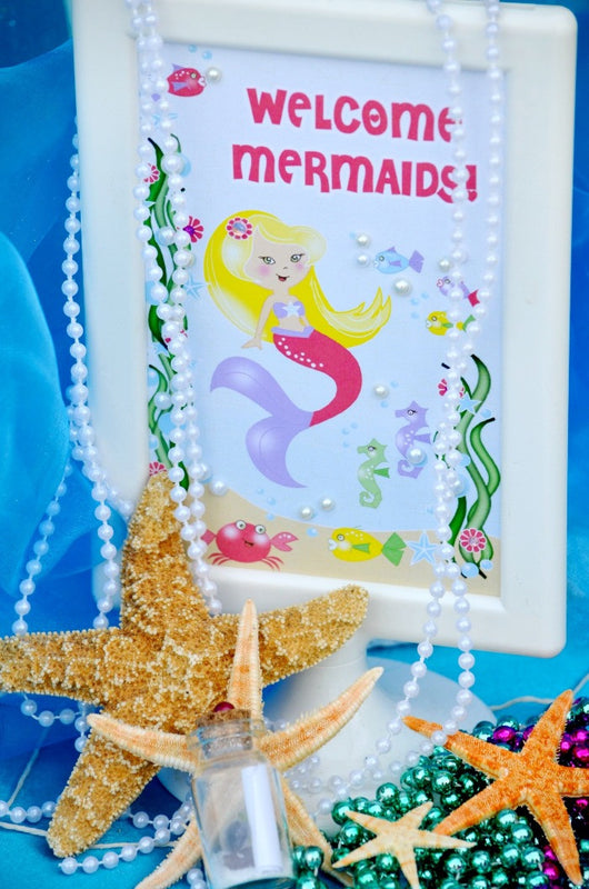 Under The Sea Mermaid Birthday Party Printables Supplies Decorations