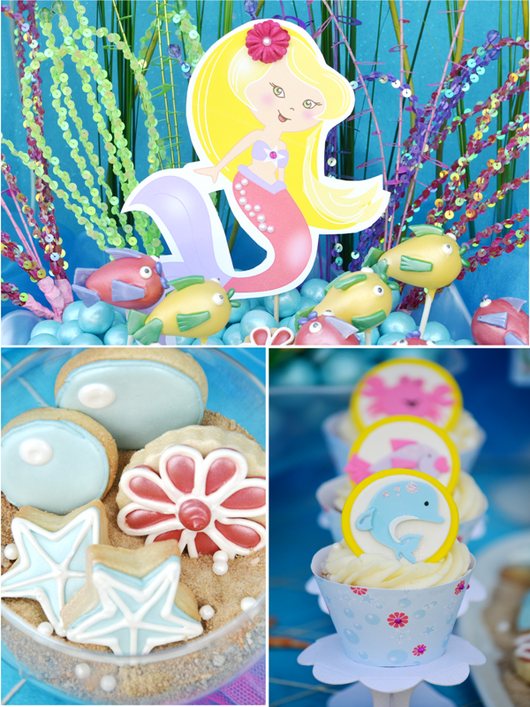 under the sea mermaid birthday party printables party supplies