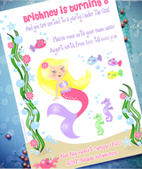 Yellow Hair Color for Printables | Under The Sea Mermaid Birthday Party Printables Supplies & Decorations | BirdsParty.com