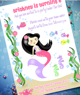 Black Hair Color for Printables | Under The Sea Mermaid Birthday Party Printables Supplies & Decorations | BirdsParty.com