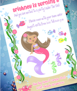 Brown Hair Color for Printables | Under The Sea Mermaid Birthday Party Printables Supplies & Decorations | BirdsParty.com